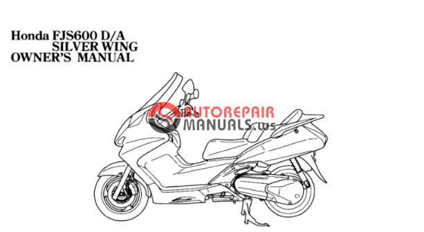 [Free download] 2006 Honda FJS 600 sliverwing Oweners