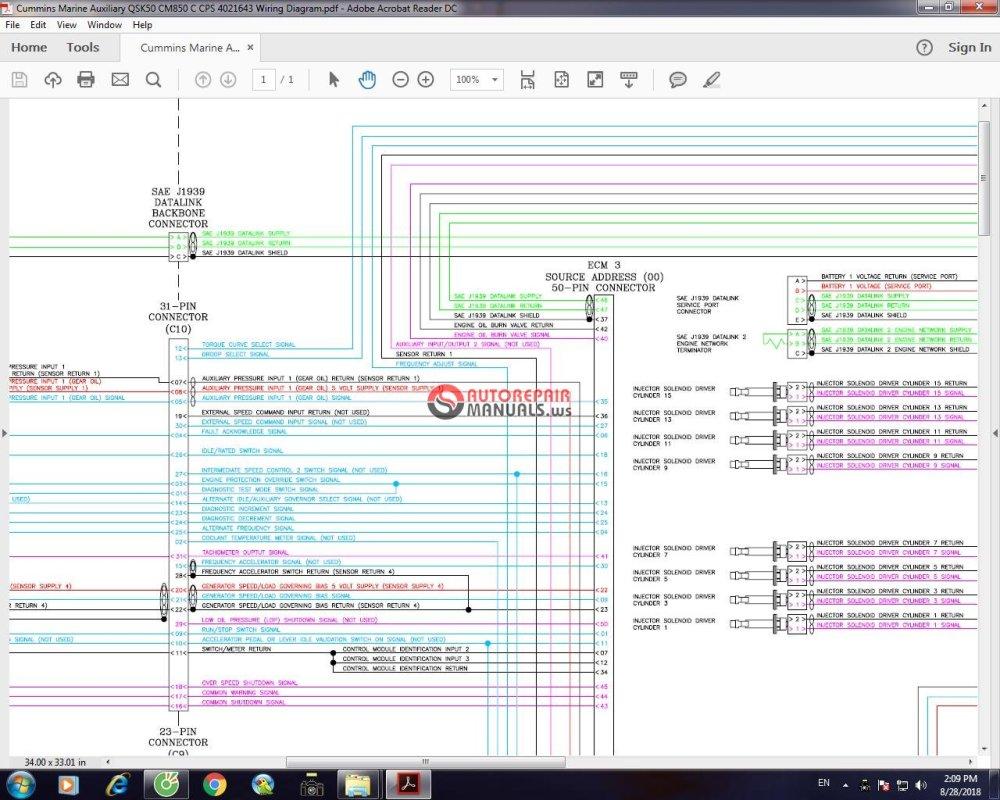 medium resolution of cummins marine auxiliary qsk50 cm850 c cps 4021643 wiring diagram cummins marine auxiliary qsk50 cm850 c