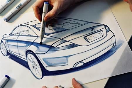 design-mercedes Fasi del design di un nuovo modello Mercedes-Benz