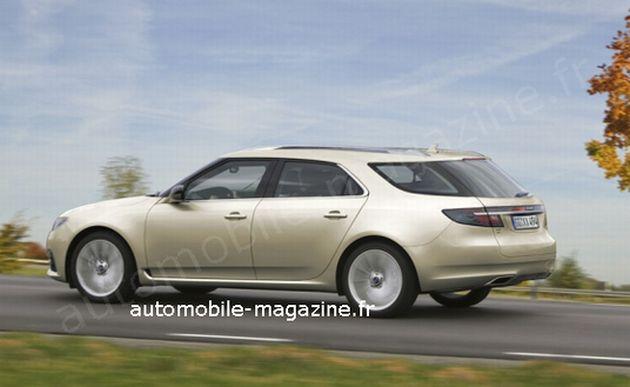 ricostruzione_grafica_saab_9-5_sporthatch Saab: nel 2012 la 9-5 station wagon e in futuro l'ibrido diesel
