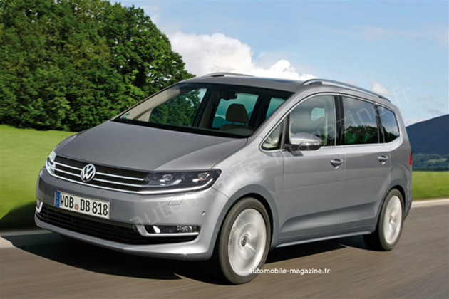 futura-vw-touran-2012 Volkswagen Touran: il render della nuova generazione