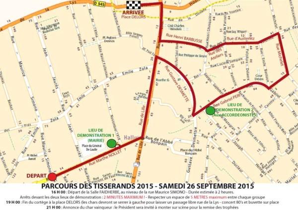 Parcours TISSERANDS 2015