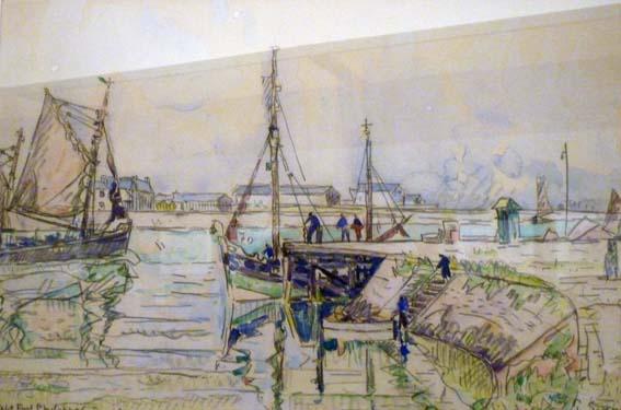 """Isabelle DEB s'est rappelé ce tableau de Paul SIGNAC """"Petit Port Philippe"""" en se baladant sur la jetée..."""