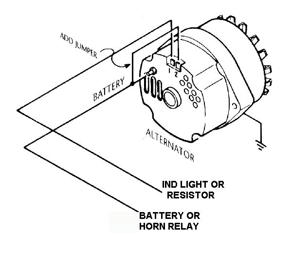 three wire delco alternator wiring