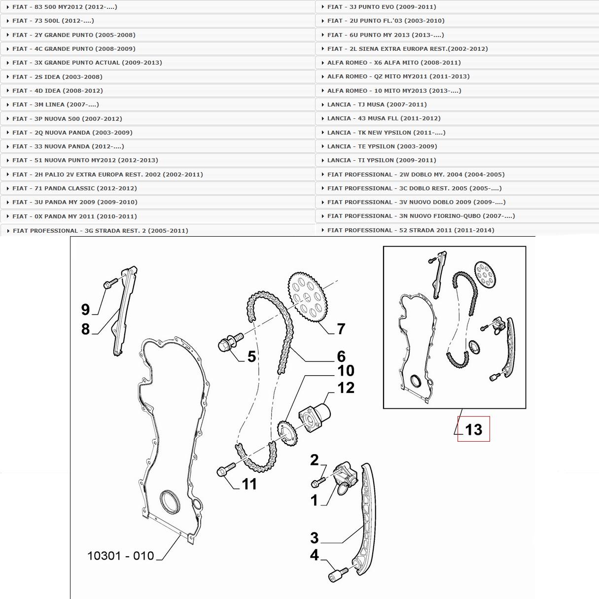Set Timing Belt 1.3 Jtdm Orig. Fiat 71776647 Opel