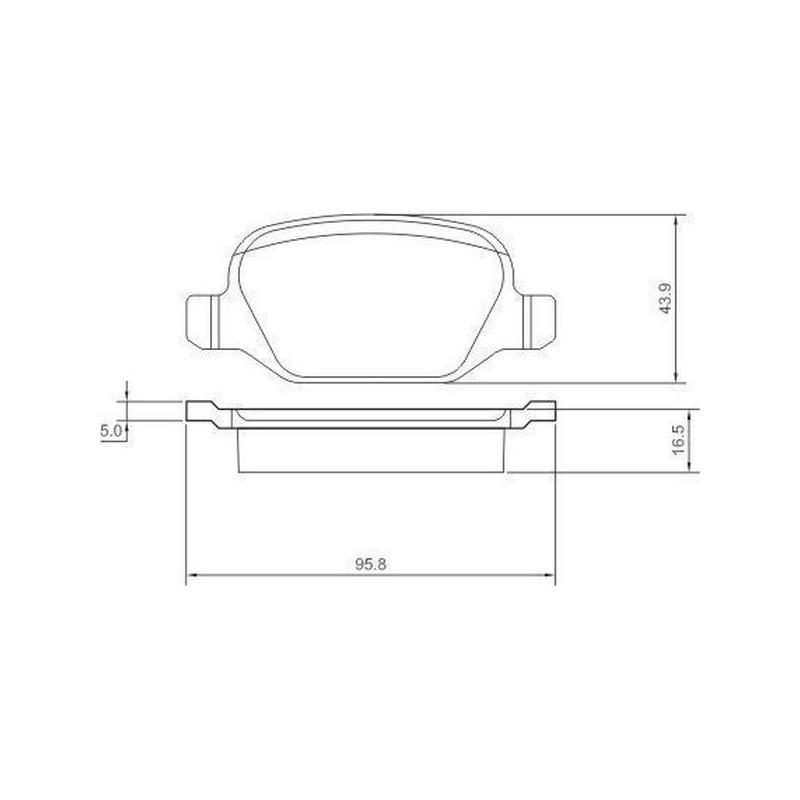 Kit pastiglie freno posteriore FIAT: SIGMAUTO SPA890