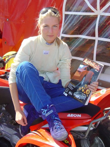 Klaudia Podkalicka - najszybsza kobieta w wyścigach Kia Lotos Cup