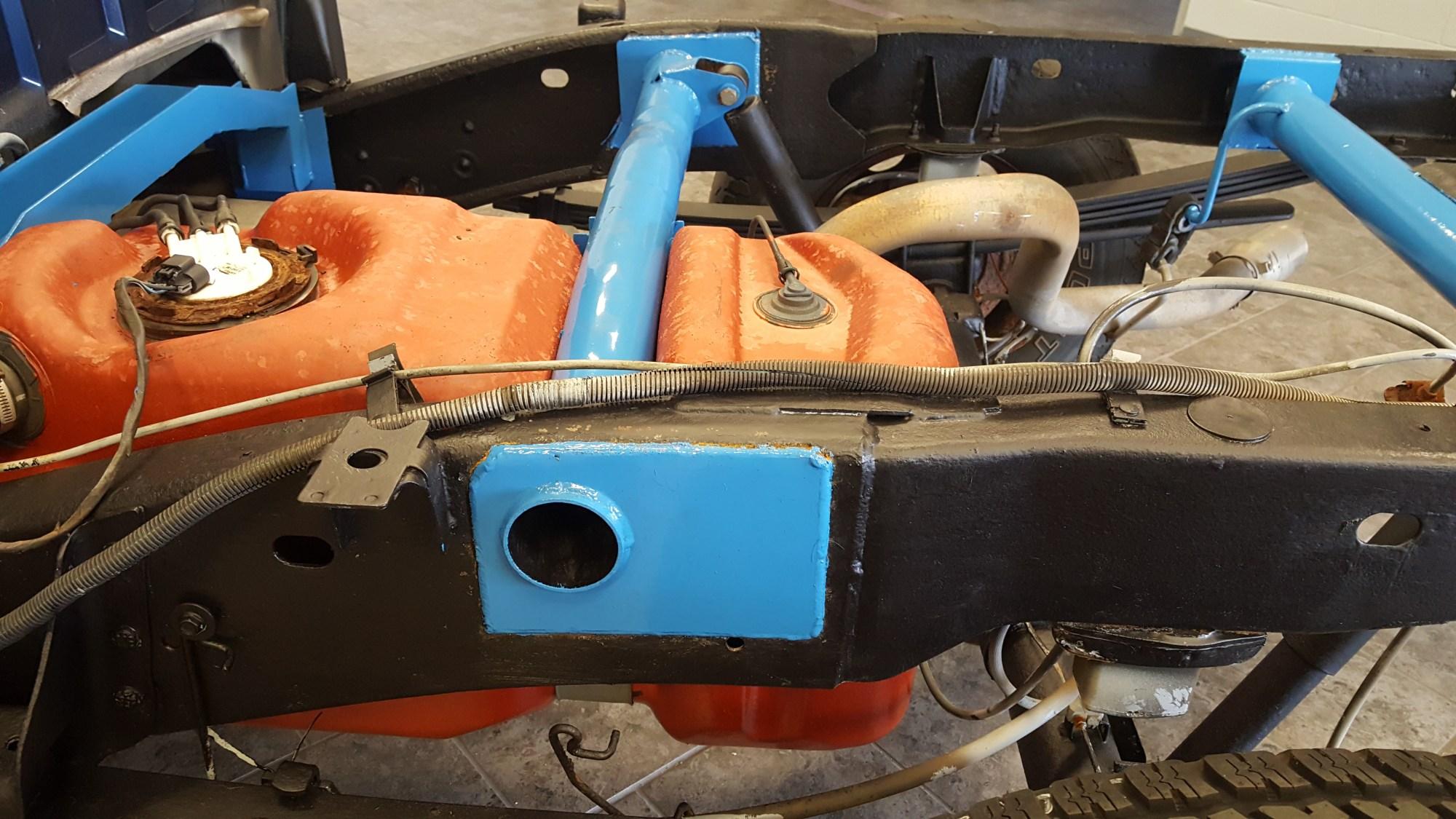 hight resolution of rear fuel tank support crossmember art 139