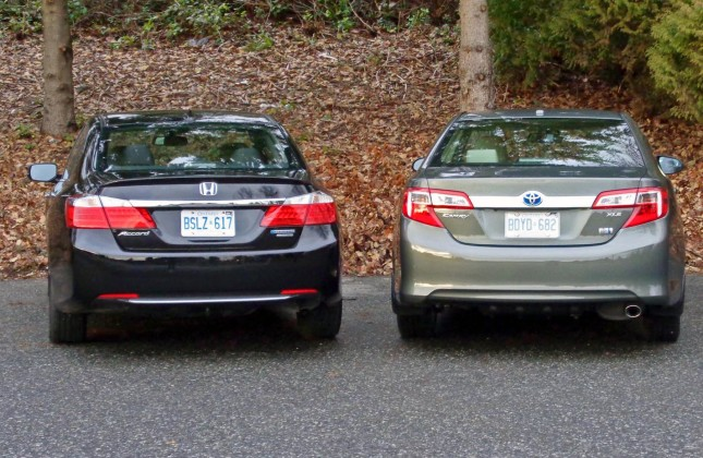 all new camry vs accord velg yaris trd comparison test 2014 honda hybrid toyota