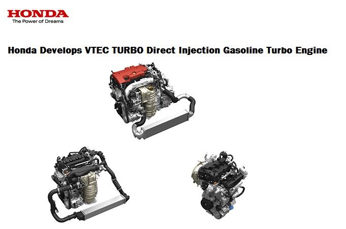 Honda showcases new VTEC TURBO Direct Injection Gasoline