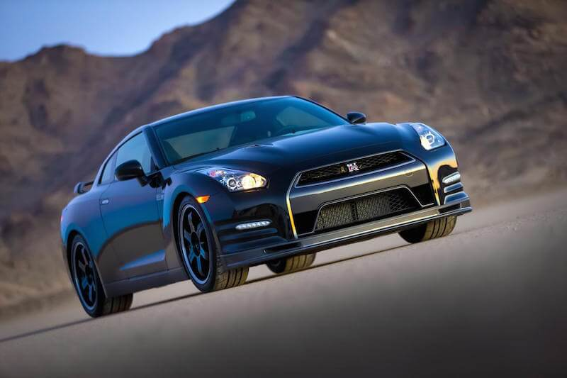 Ground level view of the 2014 Nissan GTR Track Edition
