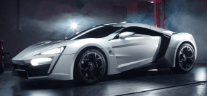 Most expensive car from the Middle East the Lykan Hypersport