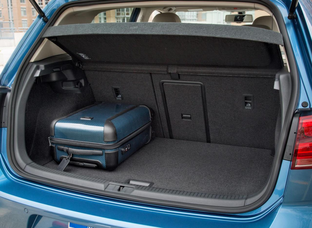 2015 e-Golf trunk space.