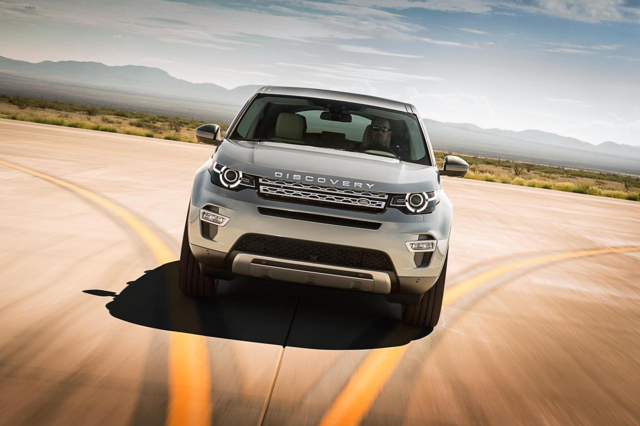 The Land Rover Discovery Sport front.