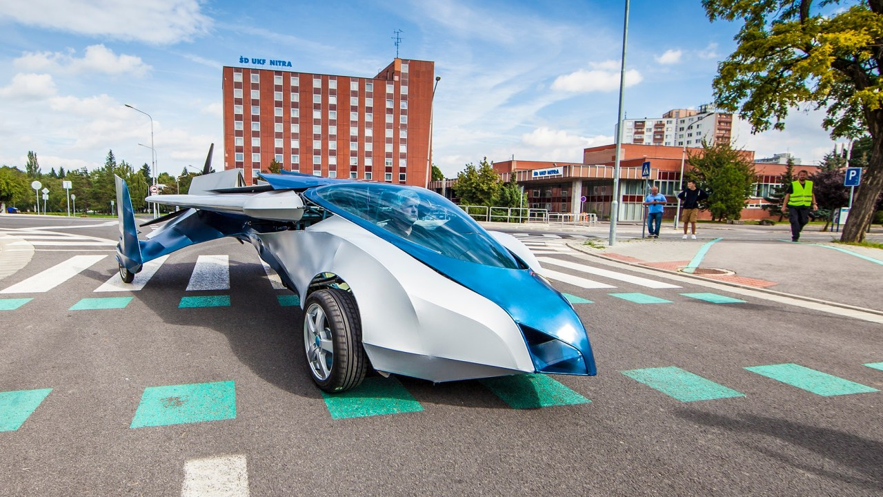 Picture of the Aeromobil flying car