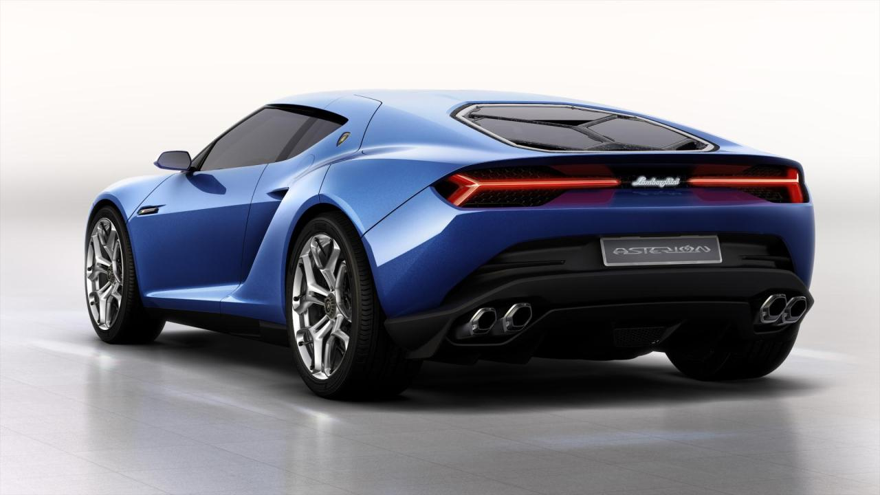 Lamborghini Asterion rear view.