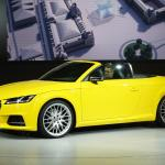 Audi TTS at the Paris Motor Show.