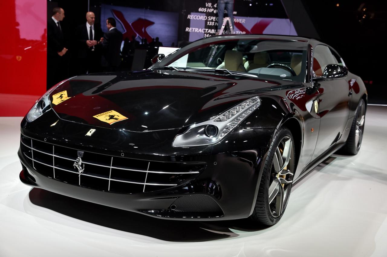 Ferrari FF at the Paris Auto Show.