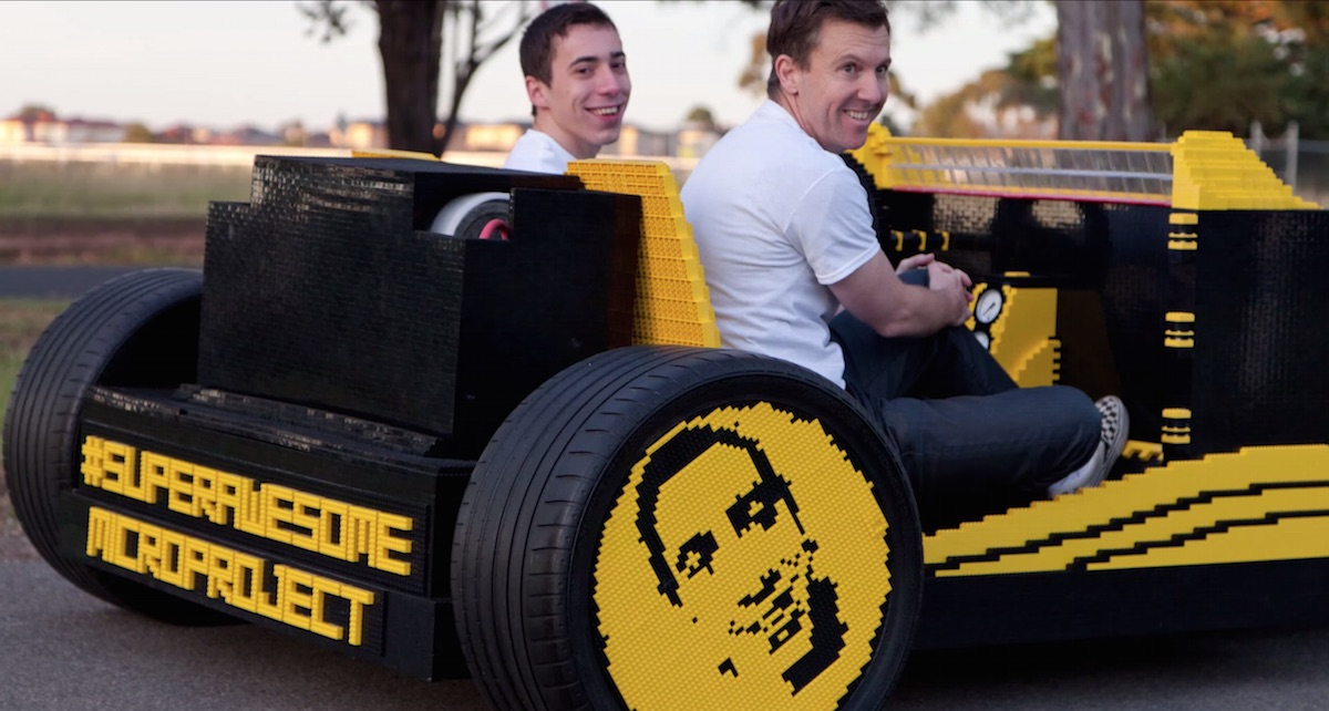 This Guy Built A Full-size Lego Car That Works Just On Air