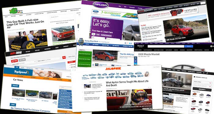 Car websites