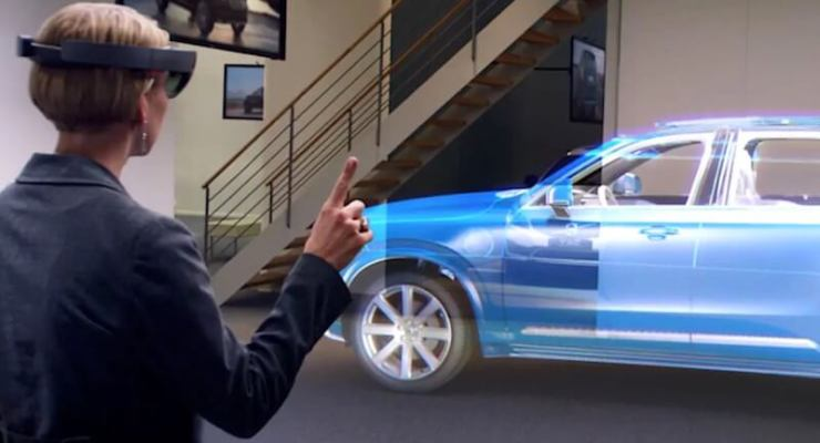 The Microsoft Hololens, which could be used to improve customer experience. Pic: Volvo/Microsoft