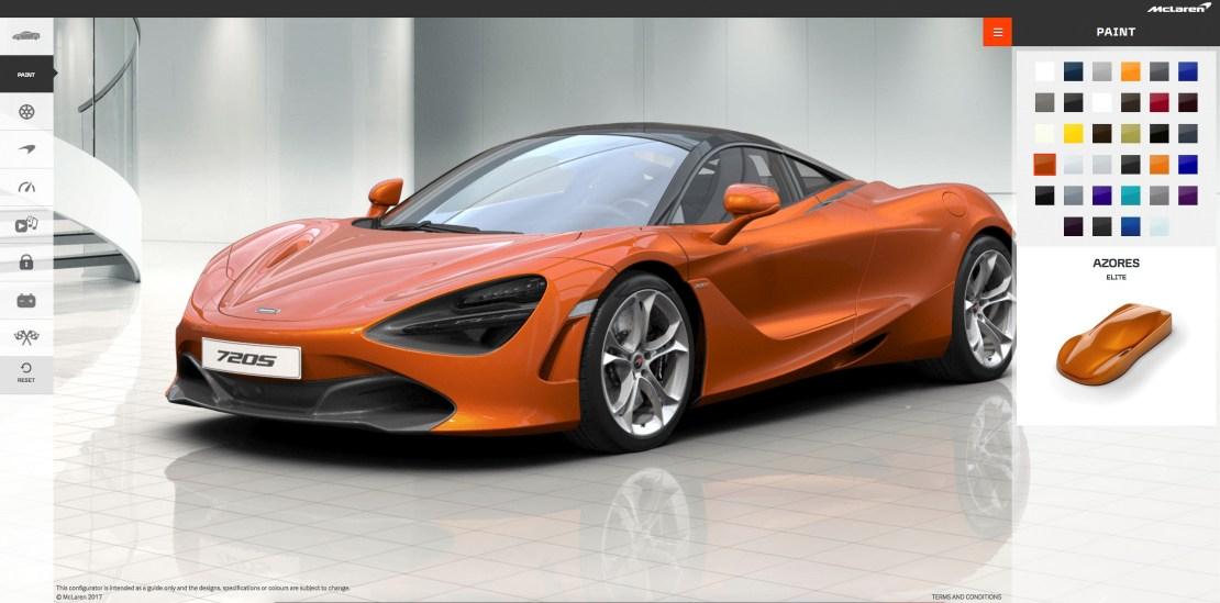 McLaren's Online Configurator