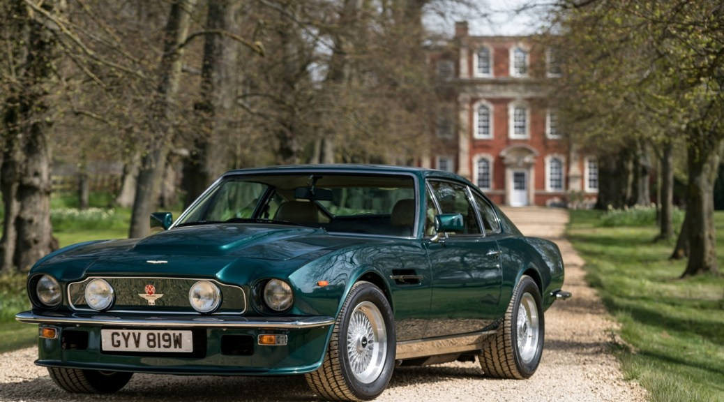 1980 Aston Martin V8 Vantage on Display alongside DBR1, DB11 and Vantage AMR