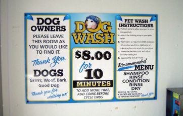 Dog Wash Menu
