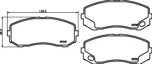 Auto rezerves daļas Mitsubishi Canter 2001 – 2010