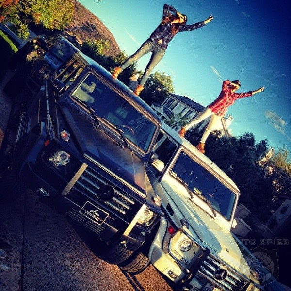 Khloe And Kourtney Leave Out Lil Sis Kylie In G Wagon Fest