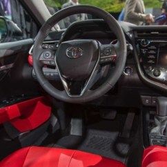 All New Camry 2018 Interior Venturer Vs Innova Naias The Toyota S Aggression Continues On Inside Blood Red Leather