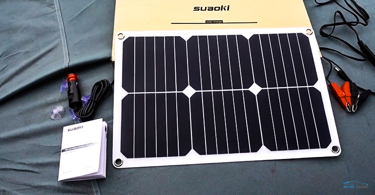 SUAOKI 12V Solar Car Battery Charger