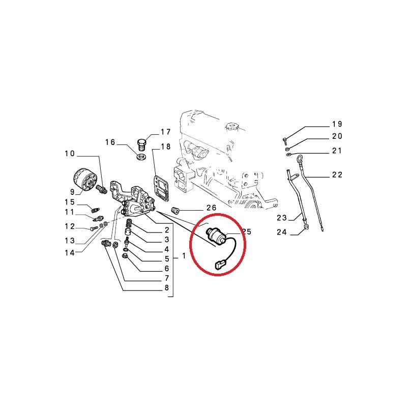 bulbo pressione olio fiat coupe punto stilo 46474606