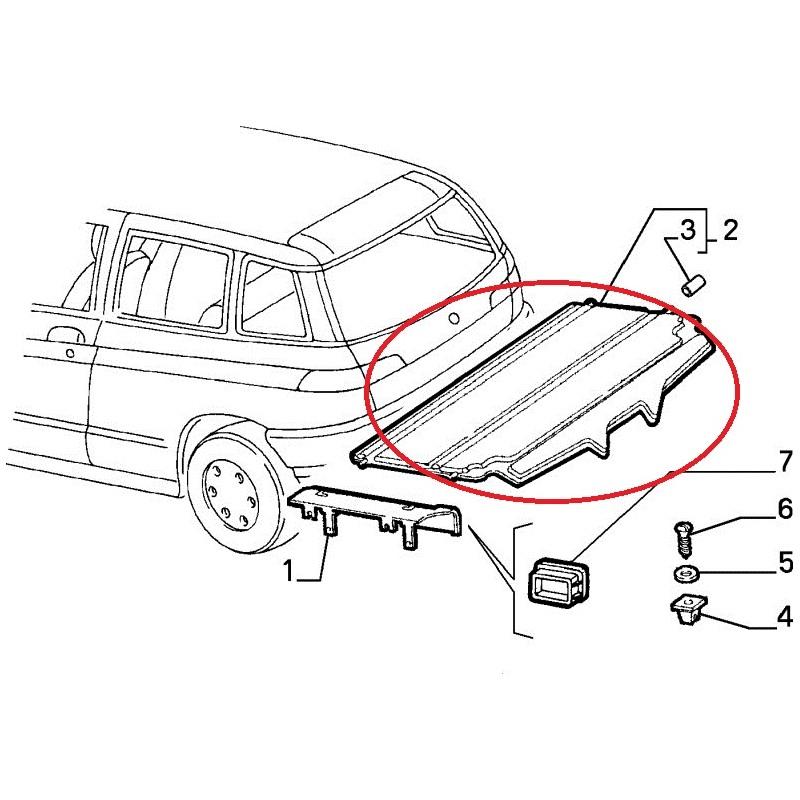 luggage lid board for alfa romeo 145