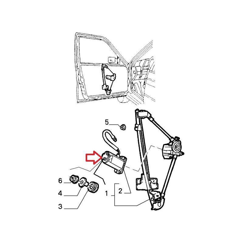 moteur lève vitre alfa romeo 164 , sz , rz , ferrari