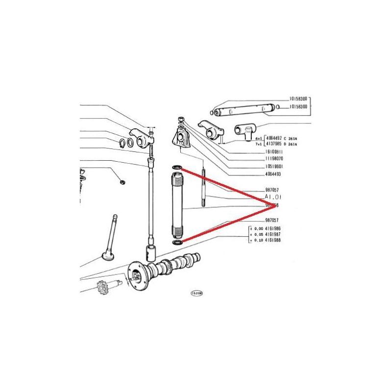 Joints de tiges culbuteurs (10) fins500 N/D/F/L/R/126A