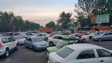 Пробка в Ташкенте - затор на перекрестке Чорсу