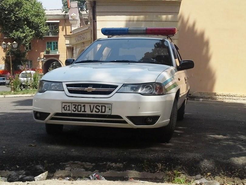 Chevrolet Nexia номер VSD МВД Узбекистана