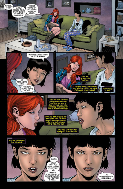 Alysia coming out to Barbara from Batgirl #19.