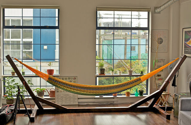 Level Up Your Staycation Hang a Hammock Build a Blanket