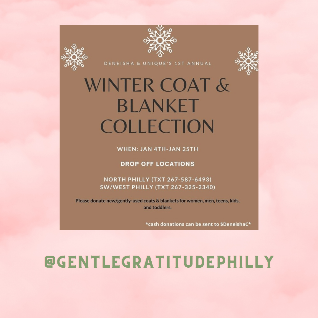 Our founders, @richbrowngurl & @deneisha__ , are striving to provide coats and blankets for infants, toddlers, children, teens, and adults. Help us by donating new or gently used coats & blankets!! Accepting new and gently used coats & blankets from Jan. 4th- Jan. 31st.