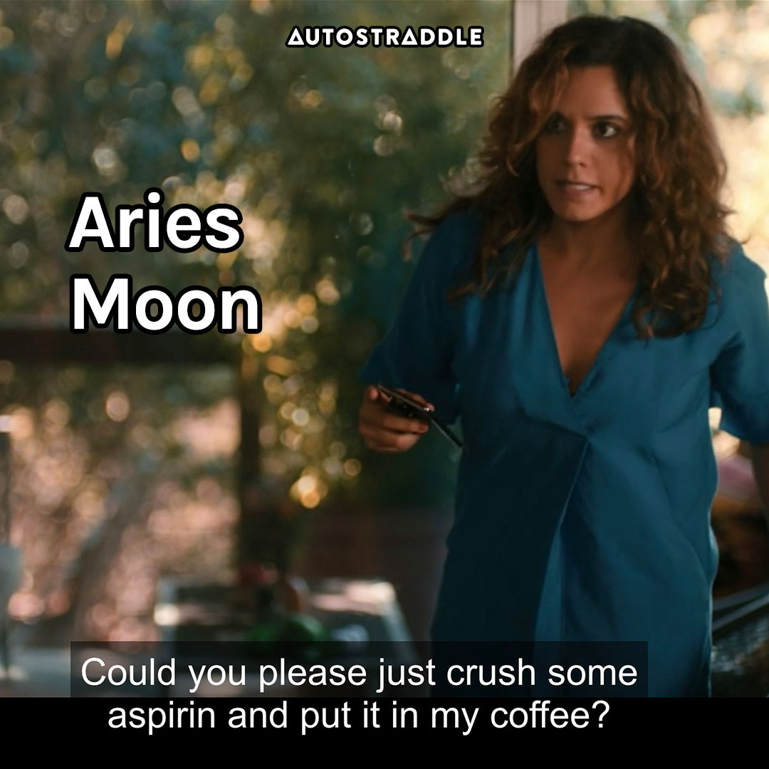 """Aries Moon: Gigi on edge """"Could you please just crush some aspirin and put it in my coffee?"""""""