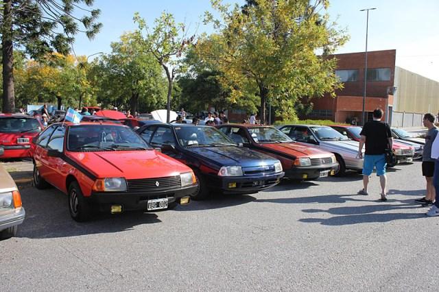 Modelos Renault Fuego en el 2do Encuentro Anual de Renault Classic Buenos Aires