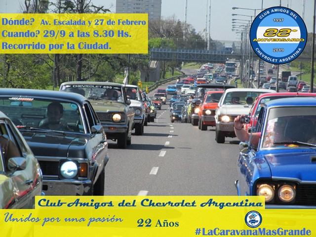 Caravana Chevrolet por la ciudad
