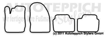 Velours Fußmatten in anthrazit Ford Fiesta MK7 JA8 mit