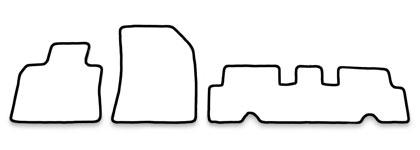 Velours Fußmatten in anthrazit Citroen Grand C4 Picasso 2