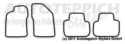 Auto-Fußmatten für Alfa Romeo 147