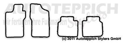 Auto-Fußmatten für Alfa Romeo 155