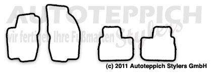 Auto-Fußmatten für Alfa Romeo 156
