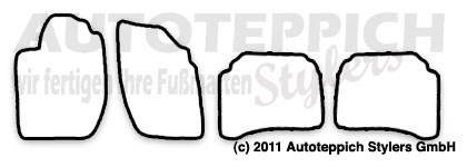 Auto-Fußmatten für Alfa Romeo 164